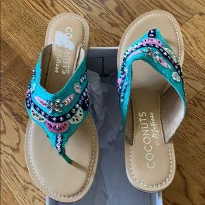 Cute sequin sandals
